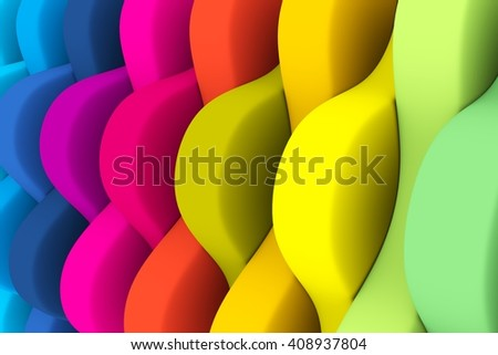 abstract background with lines cone color 3d illustration