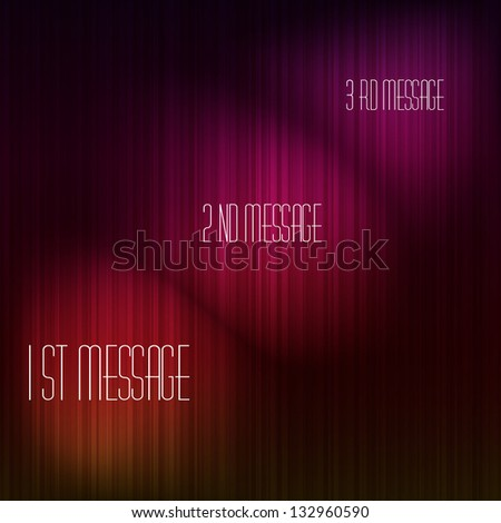 Abstract background with many color lines on it with three place for your text that highlighted - stock photo