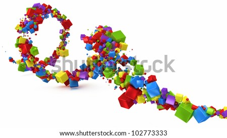 abstract background with multicolored 3d cubes