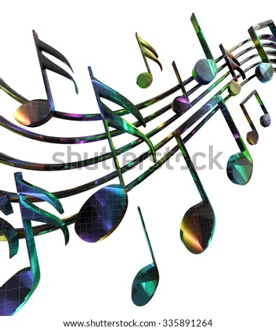 Abstract background with musical notes - stock photo