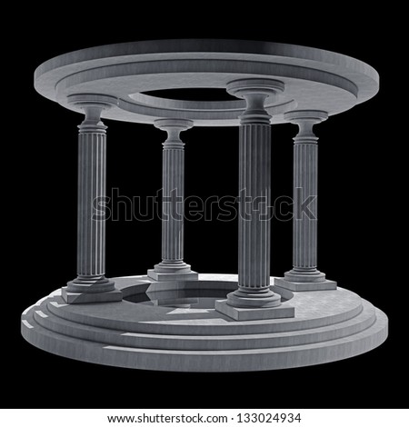abstract background with Old columns is ancient style. High resolution Realistic 3D illustration - stock photo