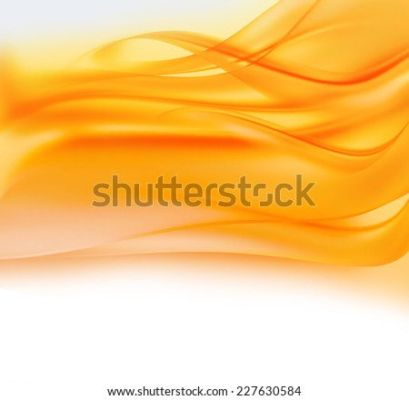abstract background with orange and yellow smooth lines