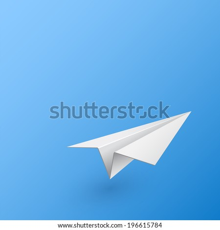 Abstract background with paper airplane