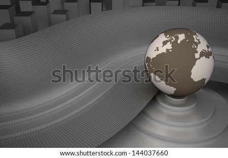 Abstract background with planet - stock photo