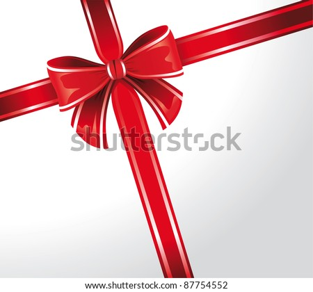 abstract background with red bow