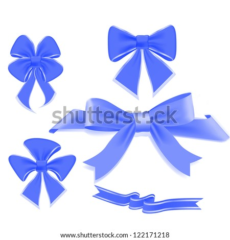 abstract background with ribbons models