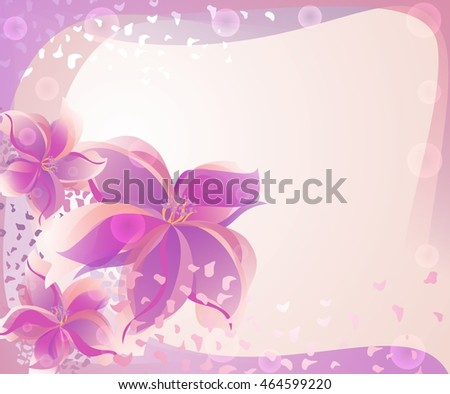 Abstract background with rose flowers for card