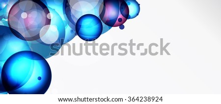 Abstract background with round elements. - stock photo