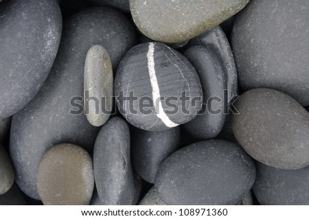 abstract background with round stones - stock photo
