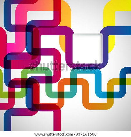 Abstract background with rounded design elements. - stock photo