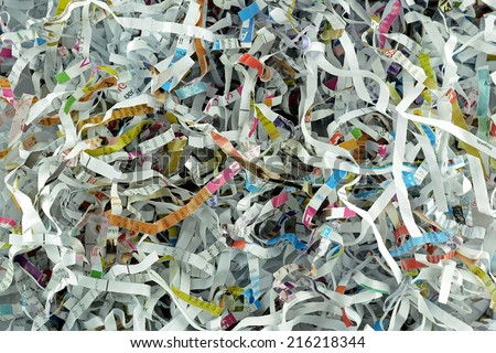 Abstract background with shredded paper - stock photo
