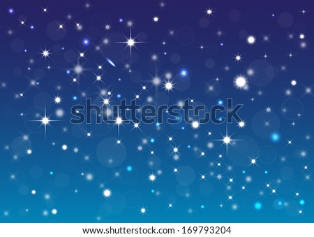 Abstract background with stars, bokeh and  ligth effect. - stock photo