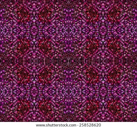 Abstract background with texture of mosaic ornament red and pink tones