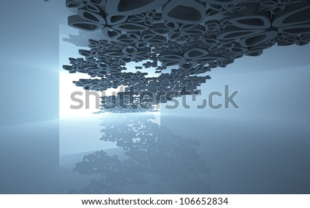 Abstract background with the interior colors flew through the window. - stock photo