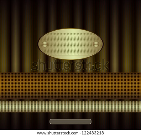 Abstract background with white and yellow gold Raster copy of vector image - stock photo