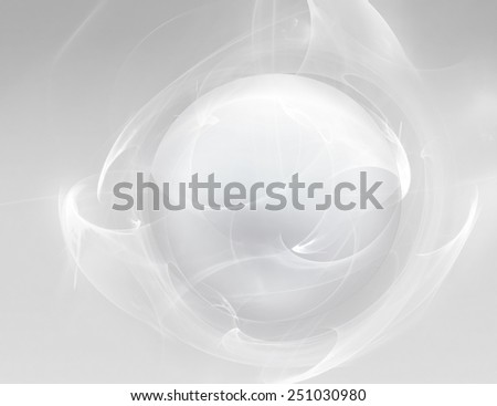 abstract background with white ball on white