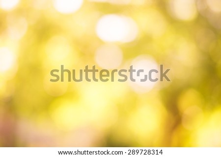 abstract background yellow bokeh - stock photo