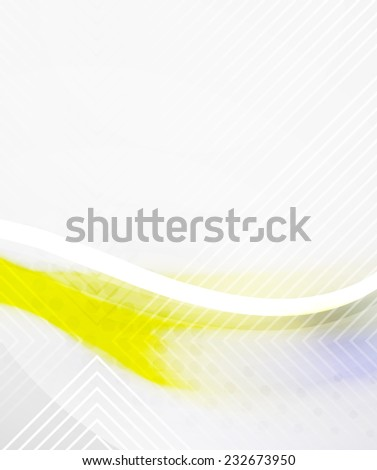 Abstract Background - Yellow shiny blurred wave, moden template - stock photo