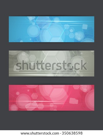 Abstract backgrounds. Banner set - stock photo