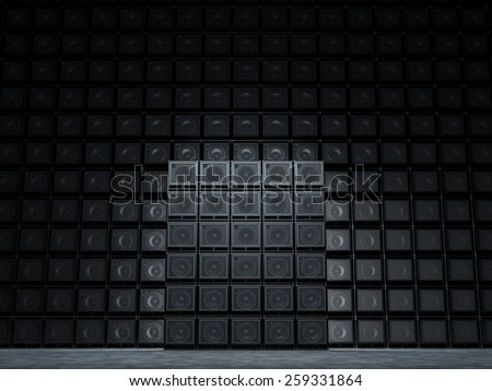 Abstract backgrounds of guitar amp - stock photo