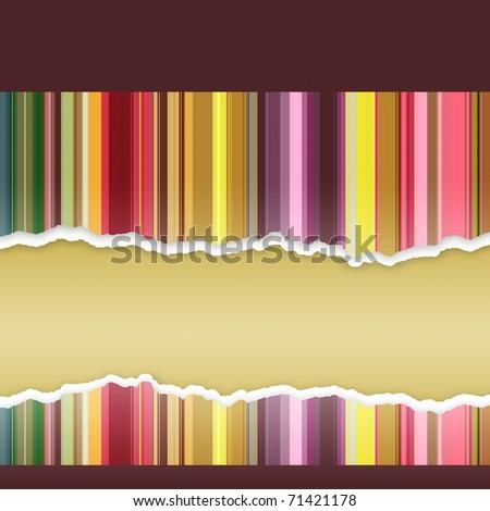 Abstract banner with stripes - stock photo
