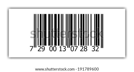 Abstract barcode security pattern background  on white background - stock photo