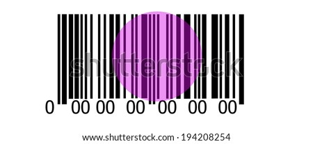 Abstract barcode security pattern background with laser - stock photo