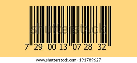 Abstract barcode security pattern background  with old photo texture