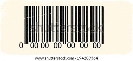 Abstract barcode security with old photo pattern