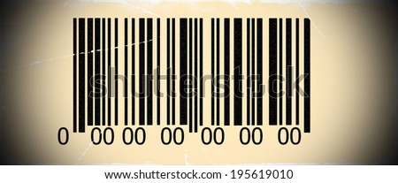 Abstract barcode security with old photo pattern and vignette