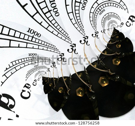 Abstract Barometer. - stock photo