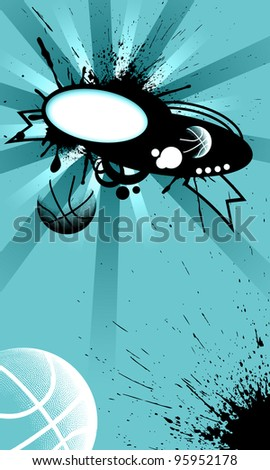 Abstract basketball background with space (poster, web, leaflet, magazine) - stock photo
