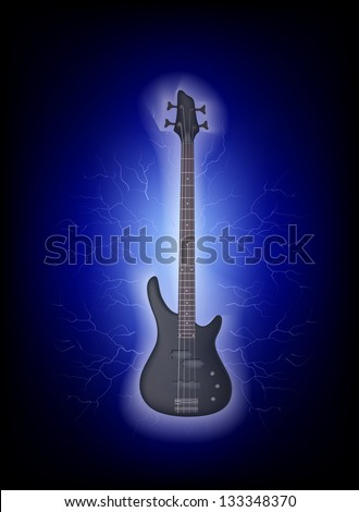 Abstract bass guitar and bolts. Its a raster version. Vector search in my portfolio.