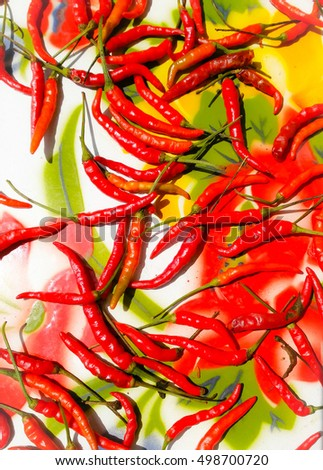 abstract bavkground of drying red chilli
