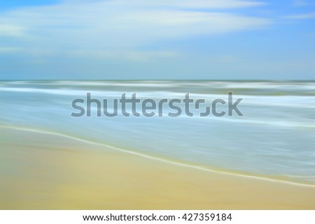 Abstract beach and ocean background. - stock photo