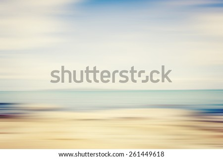 Abstract Beach Scene Blurred Background - stock photo