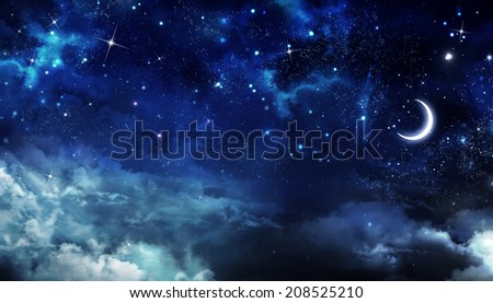 abstract beautiful background, nightly sky  - stock photo