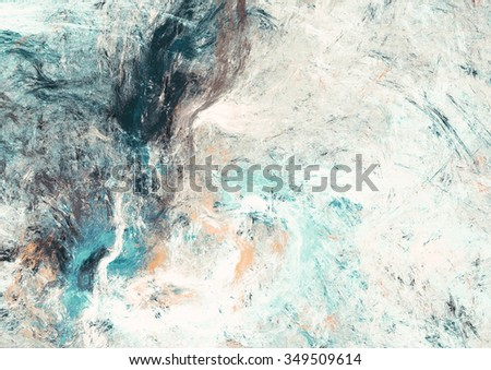 Abstract beautiful blue and white soft color background. Dynamic painting texture. Modern futuristic pattern. Fractal artwork for creative graphic design - stock photo