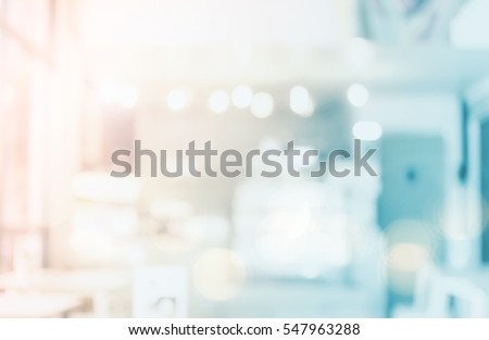 Abstract beautiful blurred shop background. Interior clean cafe pay lifestyle counter concept for banner, vinyl, billboard, mobile desktop wallpaper solution: Idea for insert create text and number.