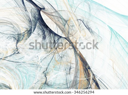 Abstract beautiful grey and blue soft color background. Dynamic smoke painting texture. Modern futuristic pattern. Fractal artwork for creative graphic design - stock photo