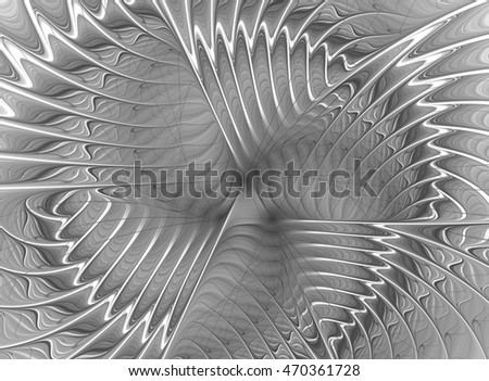 Abstract beautiful grey fractal on bright background
