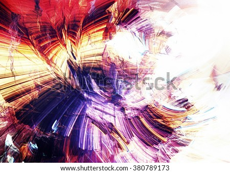 Abstract beautiful multicolor bright artistic background. Dynamic painting texture. Modern futuristic pattern. Fractal artwork for creative graphic design