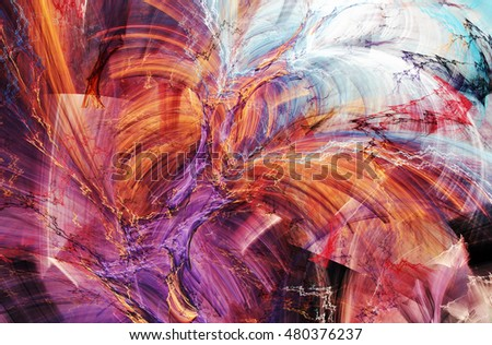Abstract beautiful multicolor bright artistic background. Dynamic painting texture. Modern futuristic pattern.