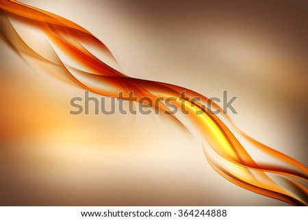 Abstract beautiful wave orange background for design. Modern motion bright digital illustration.