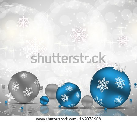 Abstract beauty Christmas and New Year background.  illustration - stock photo