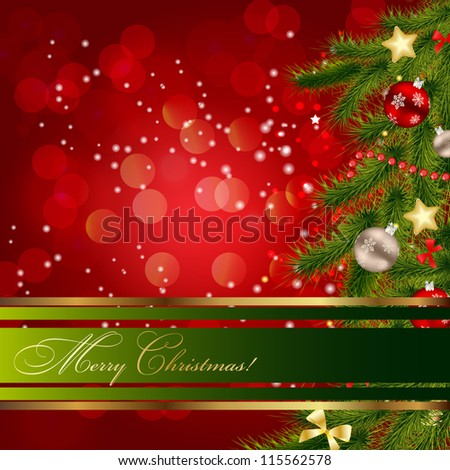 Abstract beauty Christmas and New Year background.  Raster version  illustration - stock photo