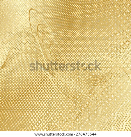 abstract beige floral pattern golden gay texture background. raster illustration - stock photo