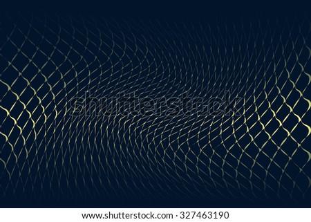 abstract beige line yellow wave cream band isolated on dark cyan background. raster illustration