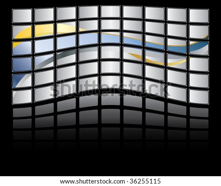 Abstract Big panel of TV screen, illustration
