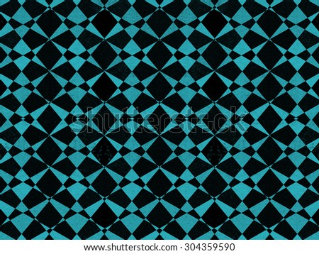 Abstract black and blue textured geometric pattern background - stock photo